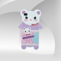 Ayıcık Desenli Pembe iPhone 4 Arka Kapak