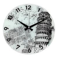 Cama Baskılı Pisa Kulesi Resimli Duvar Saati