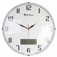 Dijital Tarih Ve Saat Ekranlı Duvar Saati