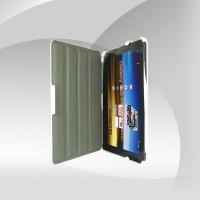 Galaxy Tab P7500 P7510 Deri Beyaz Kapak