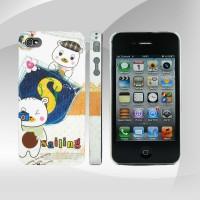 iPhone 4 Kadife Dokunuş Ayıcık Desenli Kapak