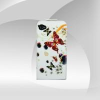 Kelebek Desenli iPhone 4G/4S Açılır Kapak