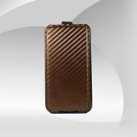 Parlak Kahverengi iPhone 4G 4S Açılır Kapak