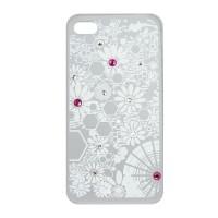 iPhone 4S Şeffaf Taşlı Telefon Kılıf
