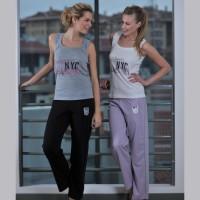 Yeni İnci NYC Baskılı Pijama Takımı
