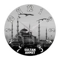 Yuvarlak Sultan Ahmet Cami Resimli Duvar Saati