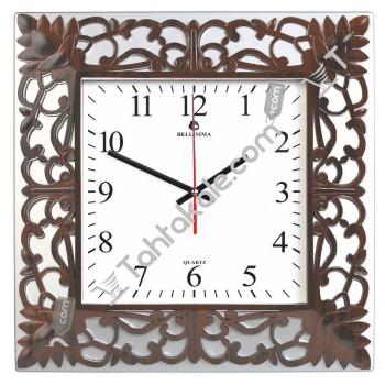 Ahşap Modelinde İşlemeli Dekoratif Duvar Saati