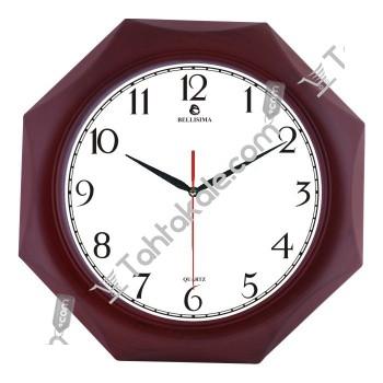 Ahşap Sekizgen Tasarım Dekoratif Duvar Saati