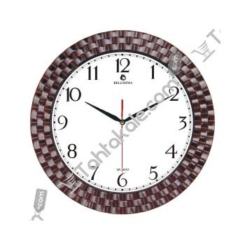 Ahşap Tasarım Kabartmalı Duvar Saati