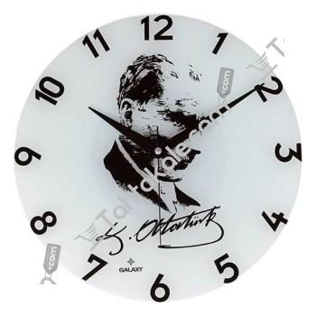 Atatürk Portreli Duvar Saati