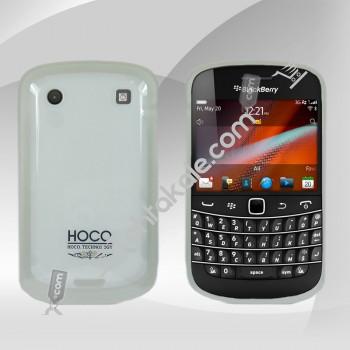 Beyaz Silikon BlackBerry  9900 Kılıf