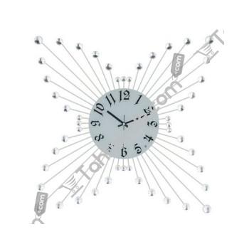 Cam Göbekli Taşlı Dekoratif Ferforje Duvar Saati