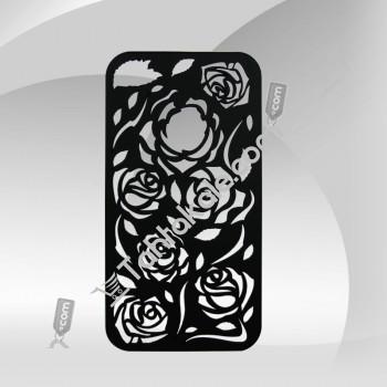 Çiçekli IPhone 4G 4S Kadife Dokunuş Kılıf