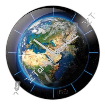 Dünya Bombeli Duvar Saati