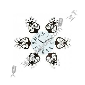 İlginç Tasarımlı Dekoratif Ferforje Duvar Saati