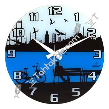 İstanbul Cama Baskılı Duvar Saati
