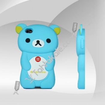 IPhone 4G  4S   Mavi Ayıcıklı Kılıf
