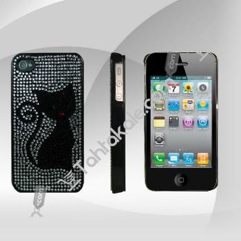 Kedi Resimli Taşlı Iphone 4-4S Kılıfı