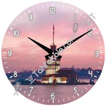 Kız Kulesi Resimli Dekoratif Duvar Saati
