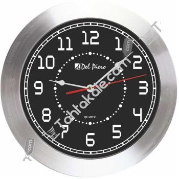 Metal Çerçeveli Siyah Beyaz Duvar Saati