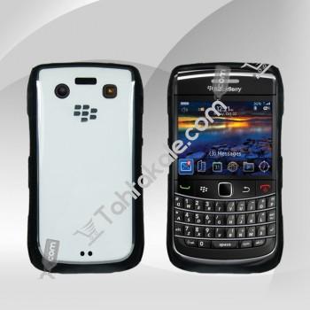 Blackberry 9700 Siyah Beyaz Silikonlu Kılıf