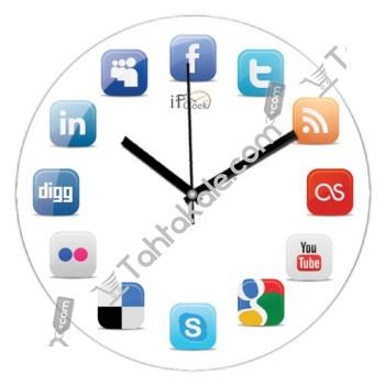 Sosyal Ağ Duvar Saati