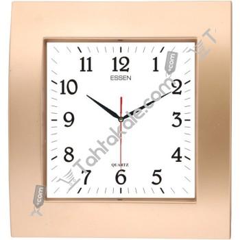 Yaldızlı Kare Tasarım Essen Duvar Saati
