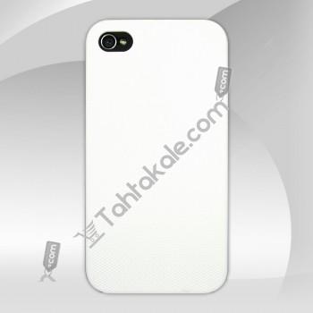 Beyaz Sert IPhone Arka Kapak 4S
